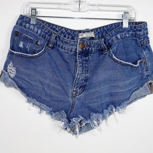 Free People Jean Shorts High Waist
